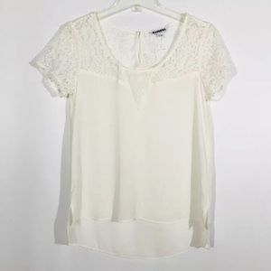 Express Ivory Lace Top NWOT